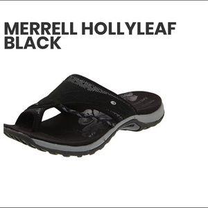 Barely Worn Black Merrell Women's Hollyleaf Sandal